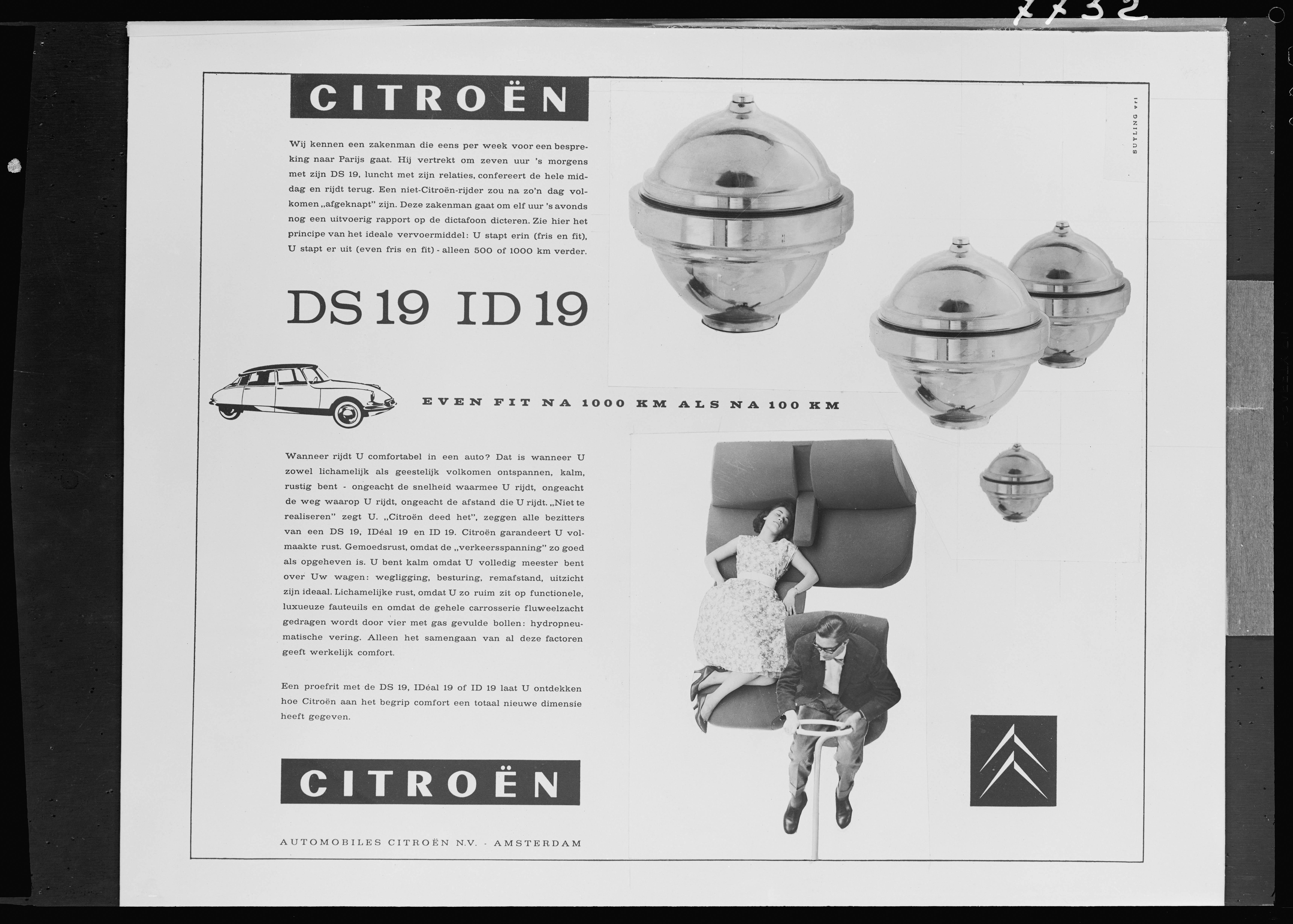 Publicidade do DS 19 nos Países Baixos DS 19 - 1959