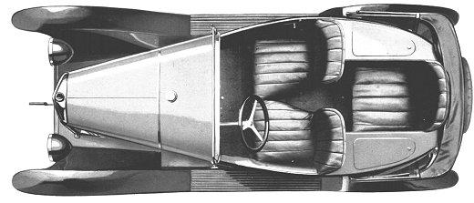 5 HP Torpedo trèfle 3 places 1924 - vue de haut