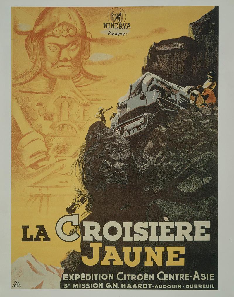 Affiche film La Croisière Jaune 1932 - copyright GUYOT