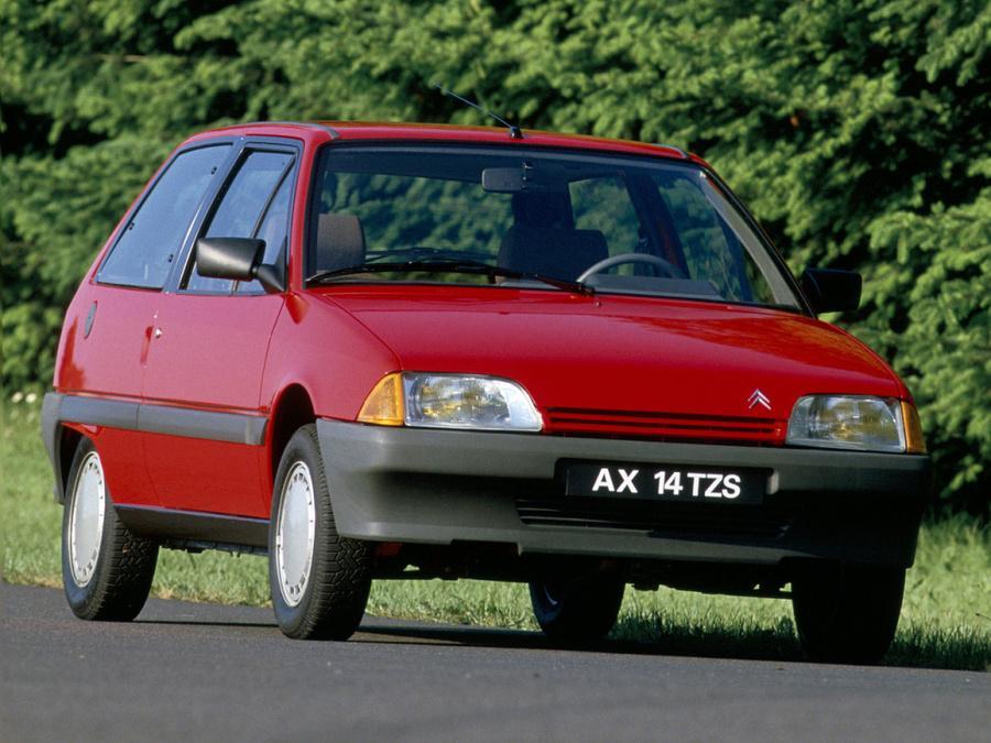 AX 14 TZS 3 Portes de 1986 - 3/4 AV rouge Furio