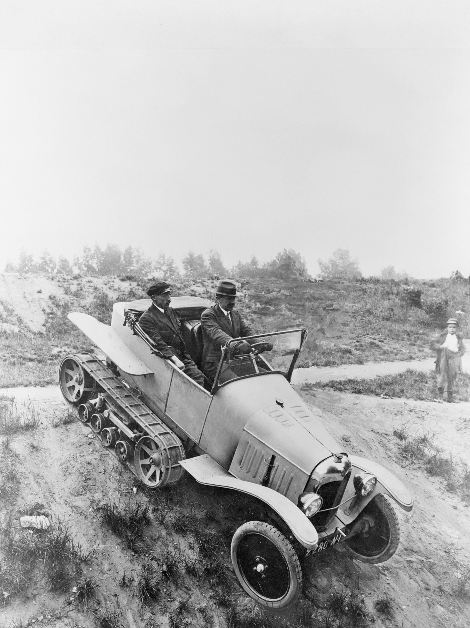 O primeiro autochenille Citroën, protótipo no Type A