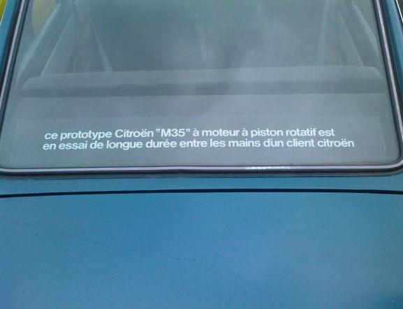 M35 Bleu Delta 1970 inscriptions à l'arrière
