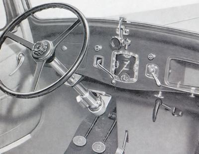 Traction 7A 13L 1934 intérieur