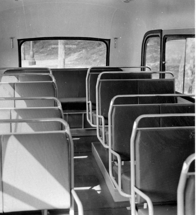 Intérieur autobus scolaire Citroën