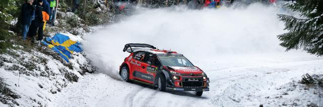 C3 WRC au rallye de Suède