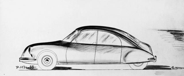 Dessin de style DS - Bertoni Flaminio - 1950