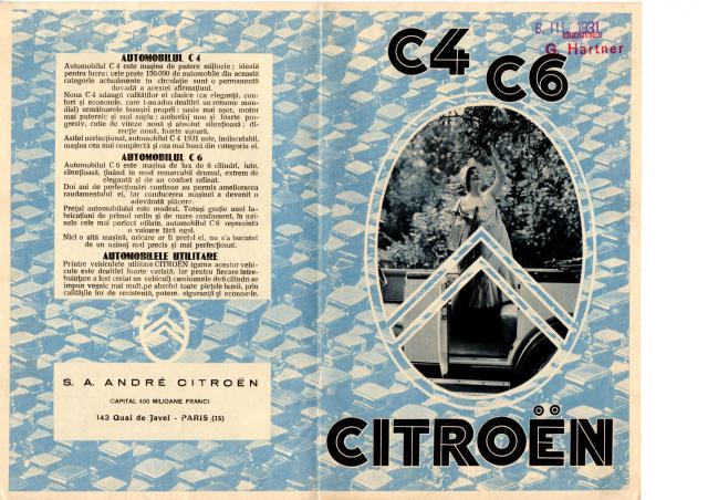 C4 Fourgon - Catalogue Roumanie
